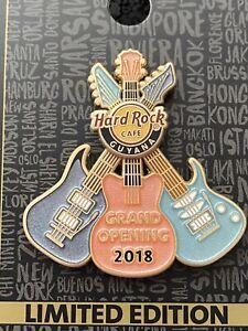 Hard Rock Cafe Pin Guyana Grand Opening Guitar Logo Moves 3D HTF Rare