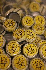 100 Lucky Bucket Beer Bottle Caps Lemon Yellow No Dents Free Shpg
