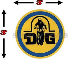 1 VINTAGE MOTOCROSS DG Decal Sticker YZ CR RM AHRMA Honda Suzuki Yamaha 125 MX