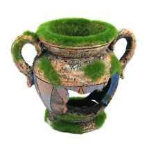 Resin Vase With Moss Aquarium Decoration Fish Shrimp Tank Decor Cave Ornament