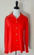 Nos Vintage Retro Butterfly Collar Polyester Shirt Top Blouse Womens 1970s