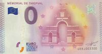 BILLET MEMORIAL DE THIEPVAL FRANCE 2015-1 NUMERO 3300