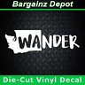 Vinyl Decal .. WASHINGTON State * WANDER * .. WA Outline Car SUV Laptop Sticker