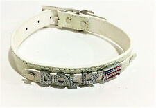 Croc Pet Dog Collar Personalized Dog Collar FREE Rhinestone Name Up To 6 Leather