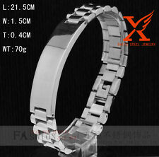 Men Bracelet 1.5CM Wide Stainless Steel President ID Bracelet for Men's 8.5""