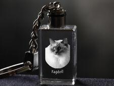 Ragdoll, Cat Crystal Keyring, Keychain, High Quality, Crystal Animals USA