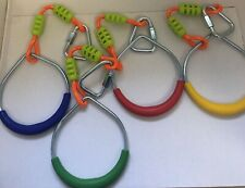 Colorful Swing Gymnastic Rings - Outdoor Backyard Play Set OF 4  UA10-5/2
