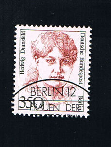 GERMANIA BERLINO BERLIN FRANCOBOLLO DONNE HEDWIG DRANSFELD 1988 timbrato (BB730)