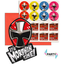 Power Rangers Party Supplies INVITES