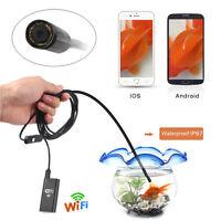 Wireless Wifi Endoscope Inspection Camera Borescope Waterproof Semi-Rigid Snake