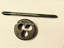 1pc HSS Machine M2.5 X 0.45mm Plug Tap and 1pc M2.5 X 0.45mm Die Threading Tool