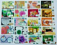 Starbucks Gift Card LOT of 20 Different - All Plastic - 2004 to 2018 - No Value