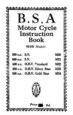 (0271) 1939 BSA M20 M21 M22 M23 M24 instruction book