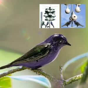 Waterproof Realistic Purple W/ Mount Simulation Bird Decoy Patio Garden