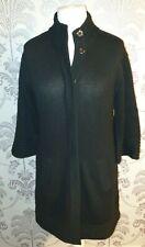 Gharani Strok Womens Black 100% Cashmere Cardigan - UK Size 12.
