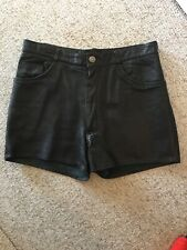 Vintage Leather Jeans Shorts Hot Pants Small