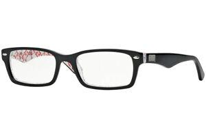 Ray Ban Eyeglasses RB 5206 5014 Top Black on Texture White 54-18-148 #14