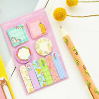 Cute Kawaii Animal Memo Pad Paper Stickers Cartoon Cat Note Daily Planner Sticky
