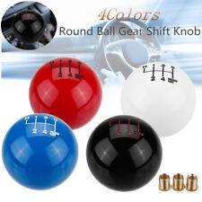 Universal 6 Speed Car Manual Round Ball Gear Shift Knob Shifter M10X1.25 Adapter
