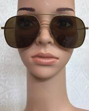 Saint Laurent Sunglasses Amber and brass aviator
