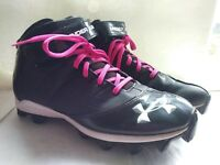 Under Armour 1235876-001 Mens UA Crusher Mid Football Cleats BLK SIZE 9.5 EUR 43