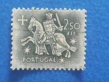 N°371 Timbre 1953 Portugal Chevalier médiéval 2,5 escudos Brun