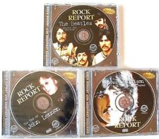 "3 BEATLES/LENNON/HARRISON ""ROCK REPORT"" PICTURE CD's>>***FREE U.S. SHIPPING***"