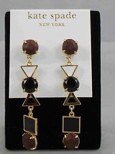 Kate Spade 14K Gold Plated IPANEMA TILE Natural Enamel Linear Drop Earrings $68