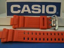 Casio Watch Band GW-3000 M-4 G-Shock Orange Resin Strap w/Steel Dbl Nib buckle