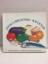 Descubriendo Recetas Publicion De La Asociacion Damas Salesianas Paperback 1990