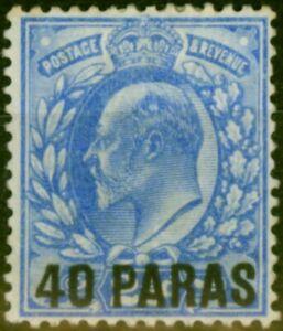 British Levant 1902 40pa on 2 1/2d Ultramarine SG8 Fine Mounted Mint