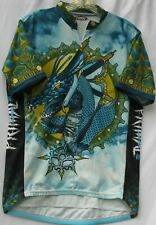 Primal Wear cold front print cycling jersey w/ 3 back pockets men's size large