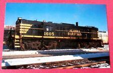 Alaska Railroad #1605 Anchorage Alaska in 1982 Snow Scene Train Postcard