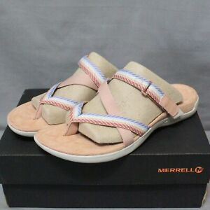 MERRELL DISTRICT MENDI women's strap flats multicolor thong sandals size 8 M New