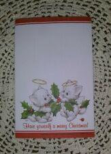 Ruth J Bill D Morehead Cats Kittens Angels Christmas Memo Pad Stocking Stuffer