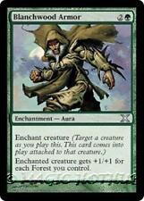 BLANCHWOOD ARMOR Tenth Edition MTG Green Enchantment — Aura Unc