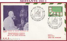 ITALIA FDC TRE STELLE GIOVANNI PAOLO II A PADOVA 1982 ANNULLO T361