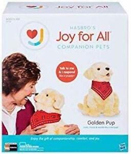 Joy For All Interactive Plush Pet Dog Golden Pup Friend Companion *NEW*