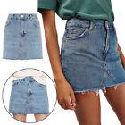 Skirt Mini Pencil Denim Jeans High Waist New Irregular Women Casual
