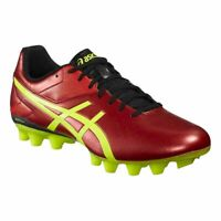 ASICS Men's Lethal Speed RS Rugby Boots - Various Sizes - Red/Lime/Black - New