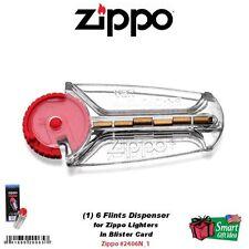 (1) 6 Zippo Flints Dispenser, For Windproof & Blu Lighters, Flint #2406N_1