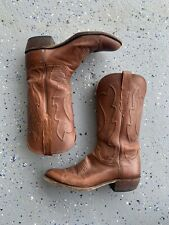 Lucchese brown leather western cowboy boots Size 9.5 D