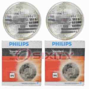 2 pc Philips Low Beam Headlight Bulbs for Plymouth Barracuda Belvedere kj