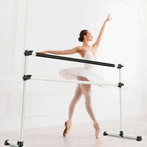 Portable Double Ballet Barre Stretching Dance Bar Gymnastics Freestanding 4 FT