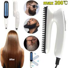 Quick Beard Straightener Multifunctional Hair Comb Curling Curler Show Cap Mens