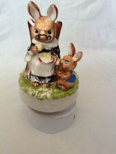 Musical Revolving Mummy Bunny and Baby Bunny.