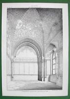 ARCHITECTURE PRINT : ITALY Torre di  Santa Ninfa Palermo Gothic Mosaic Ceiling