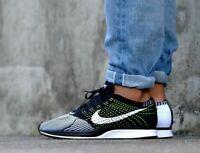 Nike Flyknit Racer 526628 011 Black White & Volt Men's Size 13