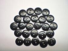 50 BLACK STRIPE/PLAIN  BUTTONS GLOSS SIZE 15mm