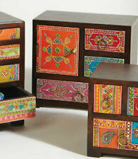 Small Mango Wood Chest Box   Hand Painted Decorative Storage For Trinkets